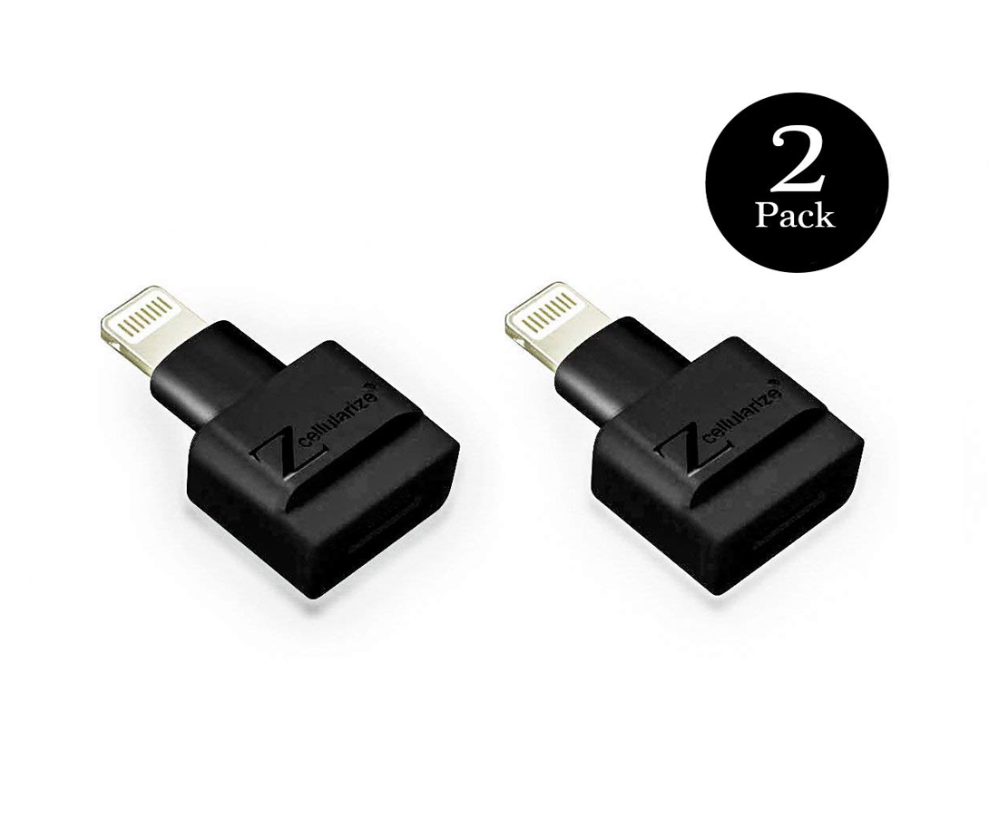 best sneakers 6df72 a5069 Lightning Extender Adapter (2 Pack) Male to Female Audio, Video Dock  Charger Extension for Lifeproof, Otterbox Cases